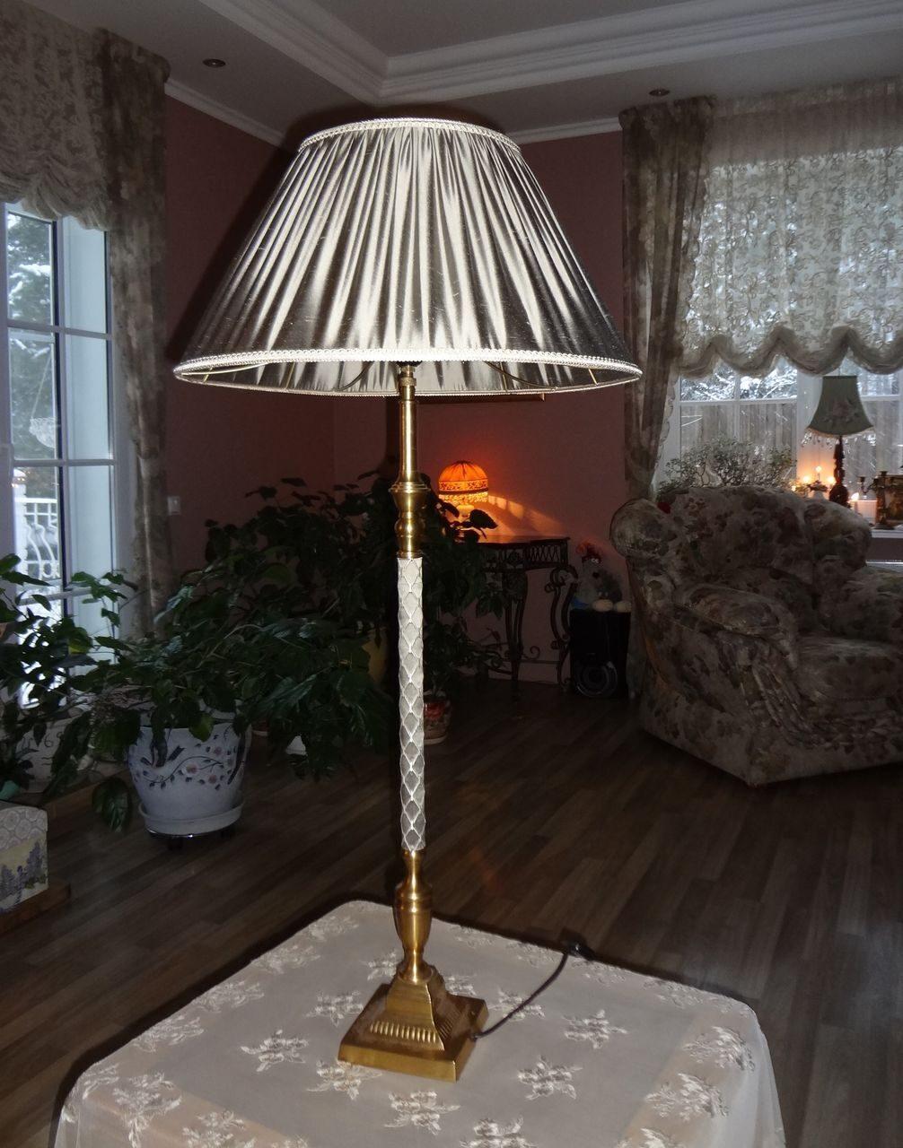 Как оформить абажур своими руками для настольной лампы фото